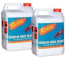 RELAX 10kg SWIMMING POOL & SPA CHEMICALS SHOCK CHLORINE GRANULES 5KG x2