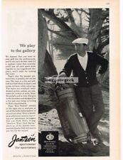 1959 JANTZEN Sportswear Golf Sweater KEN VENTURI Dapper Golfer VTG PRINT AD