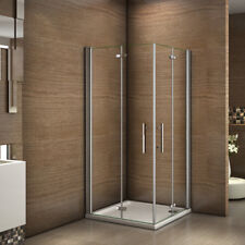 100x100x185cm Cabine de douche accès d'angle Porte de douche pivotante pliante