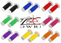 Two Tone Bike Mushroom Handle Bar Grips Lowrider Cruiser BMX