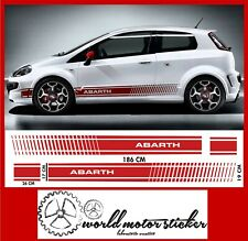 fasce FIAT PUNTO EVO ABARTH strisce laterali ADESIVO fiancate grande per auto.