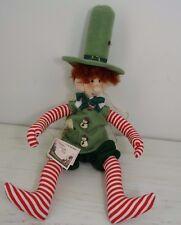 Cornish Pixie Cloth Christmas Decor Doll Artist Exclusive Design Jill