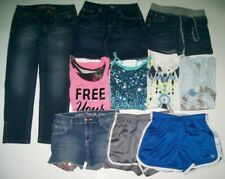 Justice Girls Denim -Active Wear Shorts & Tops Add with Lot -Size 12 -Lot of 10