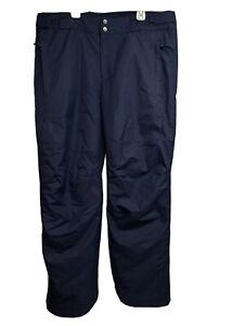 Columbia Titanium Omni Tech Blue Waterproof Snowboard Ski Pants Large Pockets
