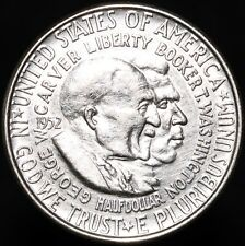 More details for 1952   booker t washington & george carver half dollar   silver   km coins