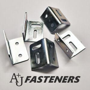 "Heavy Duty Corner Stretcher Plates 38mm 1.1/2"" Bracket Fixing Worktop Kitchen"