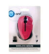 ONN Wireless Pink Mouse Powerful 2.4GHz Wireless Connectivity With Batteries NIP