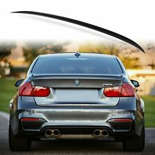 Painted Rear Trunk Lip Spoiler for BMW F30 F80 Sedan M3 Style Black Sapphire 475