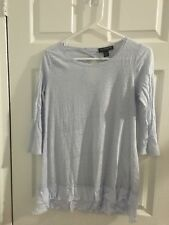 A Pea In the Pod Women's Size small blue  3/4 sleeve