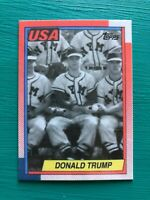 DONALD TRUMP New York Military Academy USA 1990 Topps President Baseball Card