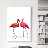 Watercolor Bird Flamingo Canvas Poster Abstract Wall Art Prints Room Decoration