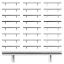 25PCS T Bar Solid Kitchen Door Cabinet Handles Pulls knobs Hardware US