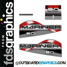 Mariner 8hp 2 stroke outboard decals/sticker kit