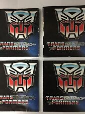 TriFold Catalog Transformers G1 Lot Of 4 Optimus Megatron Vintage 1985 Hasbro