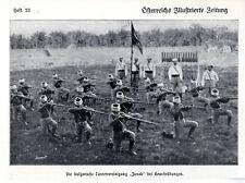 """Die bulgarische Turnervereiniigung """"Junak"""" bei Gewehrübungen c.1910"""