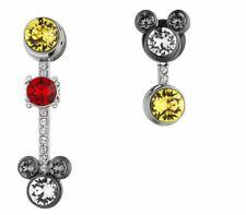Nib$189 Atelier Swarovski Mickey Mouse Pierced Earrings Colored Crystal #5459869