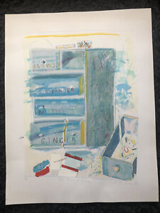 """CHLOE CHEESE b1952 Limited Ed LITHOGRAPH """"Spice Chest with Coriander"""" 72/150"""