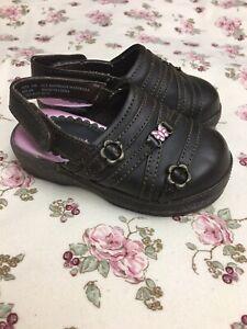 Carter's Toddler Girls 6 Shoes Clogs Brown Strap Milan