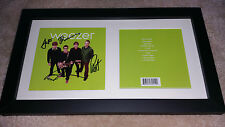 WEEZER Green Album SIGNED AUTOGRAPHED FRAMED CD Rivers Cuomo #A
