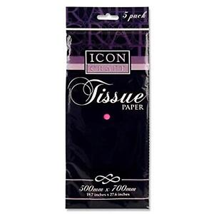 Icon Craft Premium 'Hot Pink' Tissue Paper. Pack of 5 Sheets.