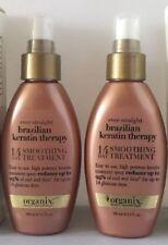 2 X ORGANIX Ever Straight Brazilian Keratin Therapy 14 Day Smoothing Treatment