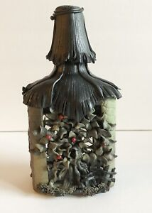 UNIQUE Decorative Glass Bottle | Dark Apple Tree | Fantasy | Potion Bottle