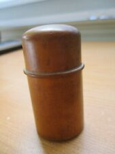 Antique Portable Wood and Glass Inkwell