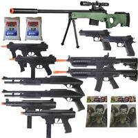 11 Gun P2703G Sniper Rifle Package  + Shotguns + Pistol + Tec9 SMG + Targets BBs