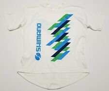 NOS Vintage 1980-90s Shimano 2-Sided 50/50 Cotton Made in USA XL Cycling Jersey