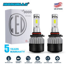 2019 9005 HB3 COB LED Headlight Bulb HIGH BEAM Super Bright 6000K 198000LM 1320W