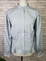 Ralph Lauren Denim Co XL blouse 1900s shirtwaist look white with blue stripes