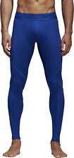 adidas AlphaSkin Sport Long Mens Compression Tights Blue Gym Training Workout