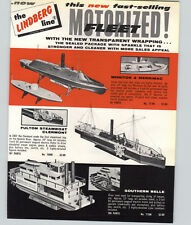 1958 PAPER AD 8 PG Lindberg Scale Model Kits Motorized Ships Boats Airplanes