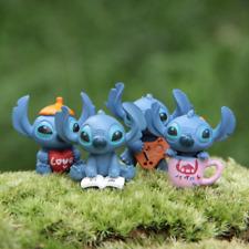 4pcs Mini Lilo Figurines Baking Set DIY Doll 2020 New Lilo and Stitch Figures
