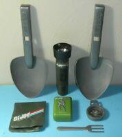 Lot 1980s GI Joe Nasta Flashlight Shovel Compass Wallet Kids Field Belt Play Set