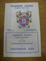 24/02/1967 Tranmere Rovers v Port Vale  . Thanks for viewing this item, buy with