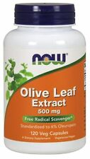 Olive Leaf Extract 500 mg 120 Veg Capsules - NOW Foods