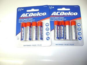 AA Batteries Super Heavy Duty 4 Count Pack ACDelco NEW ( 2 Packs ) JUN23