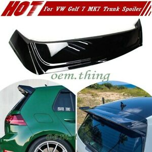 2019 For Volkswagen VW Golf 7 MK7 5DR DTO GTI Trunk Spoiler Painted #L041 Black