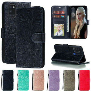 For Samsung Galaxy A21S A01 A11 Lace Wallet Flip Stand Leather Phone Case Cover