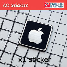 1 x Apple logo ALUMINIUM/CARBON sticker badge  for iphone ipod ipad imac macbook