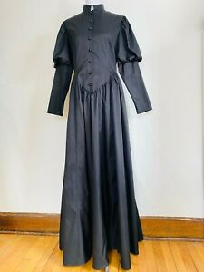 Victorian Choice Black Mourning Civil War Steampunk Gothic Costume Dress XL