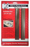 JPT260 Jet Planer blades   1 Pair 260 x 30 x 3 HSS inc Vat