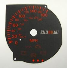 Lockwood Mitsubishi Evolution 7/8/9 Ralliart BLACK Dial Conversion Kit C026