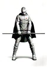 Arkham Asylum ROBIN Black & White w Red Pin Up Print DC Batman