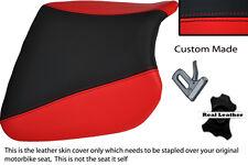 Negro Y Rojo Custom encaja Kawasaki Ninja Zx9 R 94-97 Frontal De Cuero Funda De Asiento