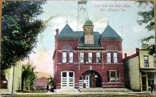 1909 Postcard: City Hall & Post Office - Port Allegany, Pennsylvania PA