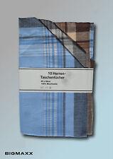 Herren Taschentuch Stofftaschentuch Baumwolle 10 Stück Nastücher Taschentücher