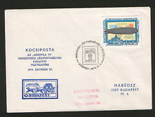"HUNGARY-FILATELIC COVER ""AEROFILA""-ZEPPELIN-1974.."
