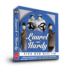 LAUREL & HARDY 5  DVD GIFT FILM REEL TIN UTOPIA FLYING DEUCES, LUCKY DOG & MORE